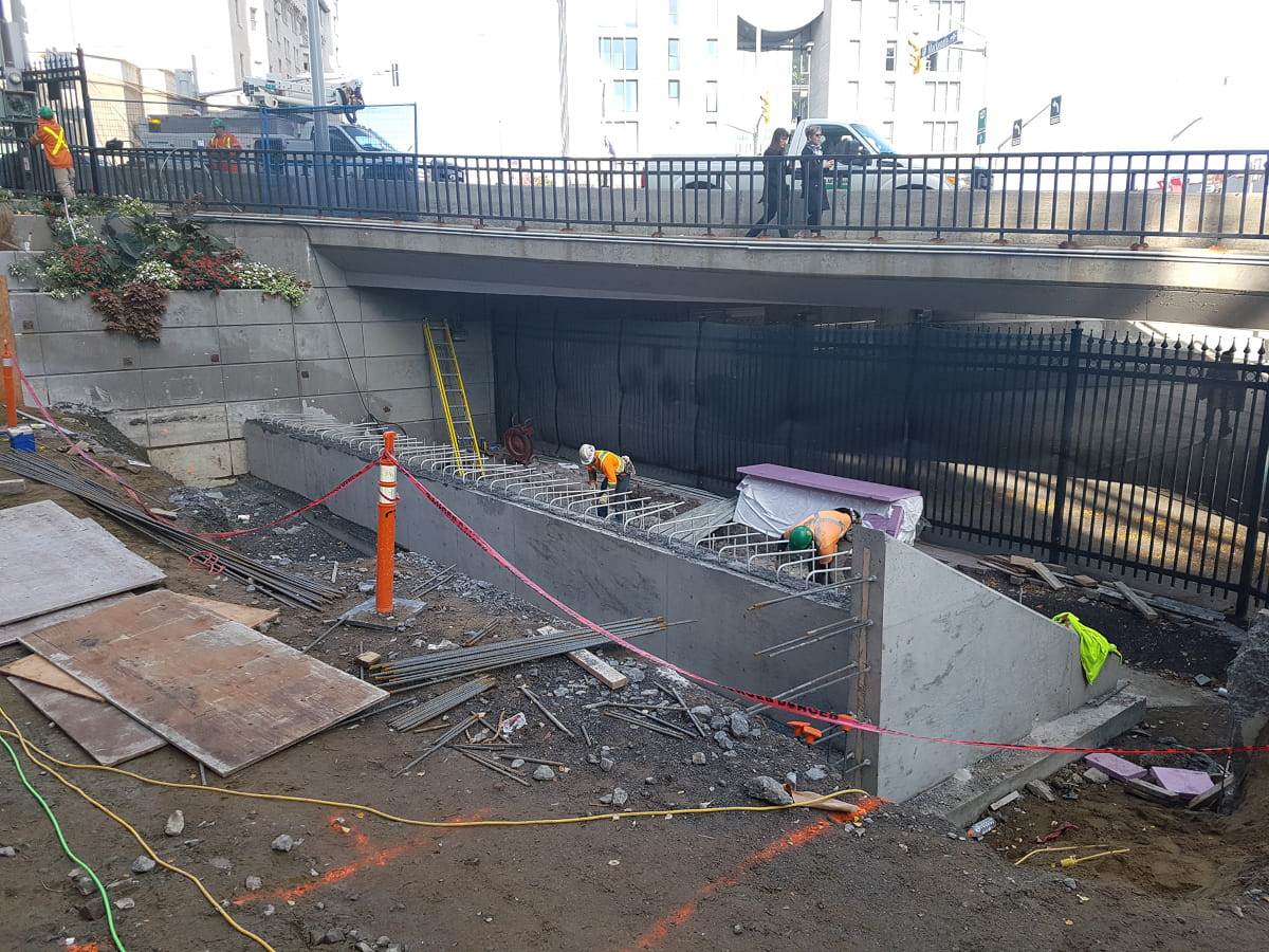 Construction of concrete stairs at Government Conference Centre