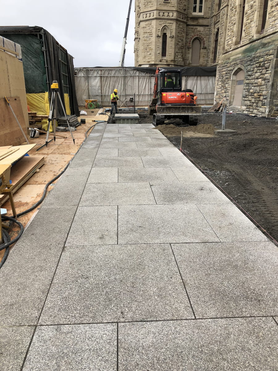 Installed pavers at Parliament Hill