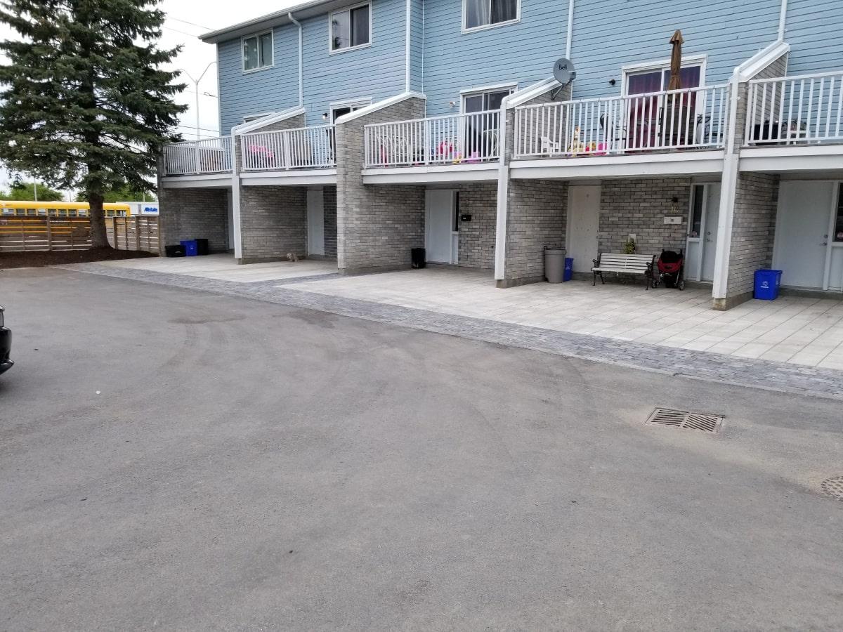 Precast concrete paver installation at Marlborough Towers