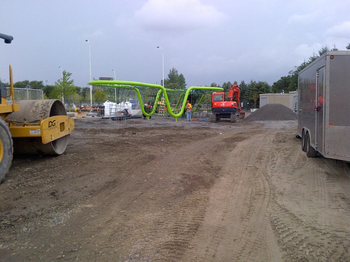 Play structure installation underway at Lansdowne Urban Park